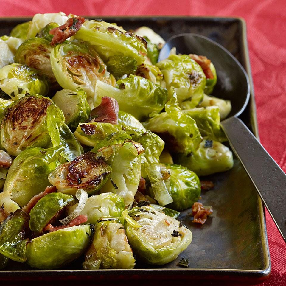 Roasted Brussels Sprouts with Pancetta & Sage