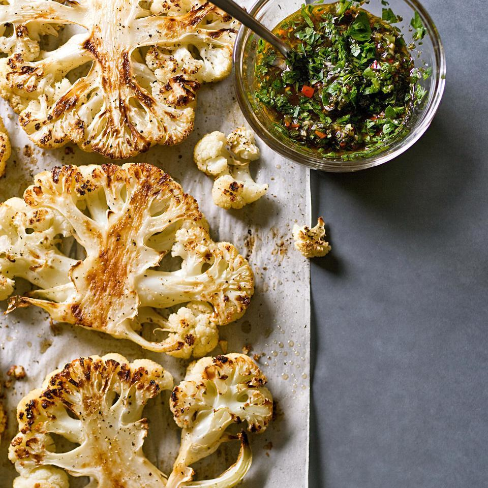 Cauliflower Steaks with Chimichurri