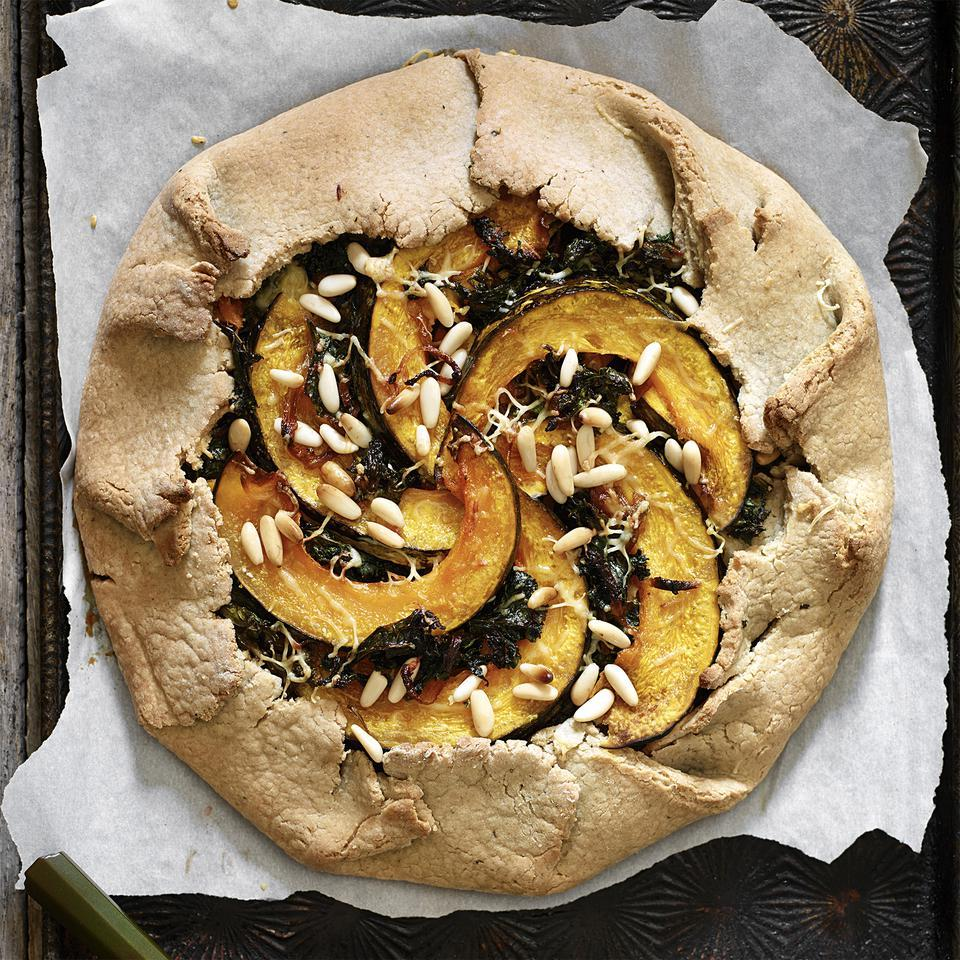 Galette with Kabocha Squash & Kale