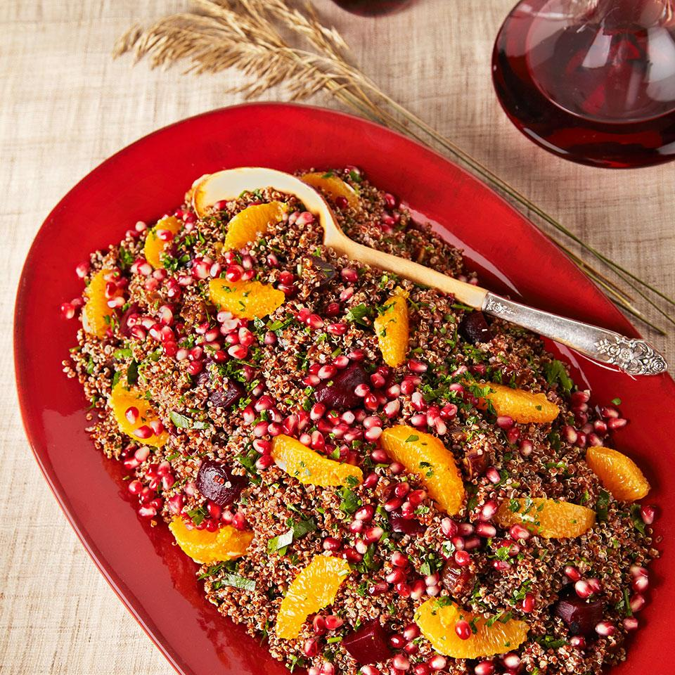 pomegranate beet quinoa salad