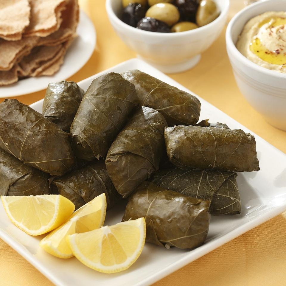 Chickpea Bulgur Stuffed Grape Leaves Recipe Eatingwell