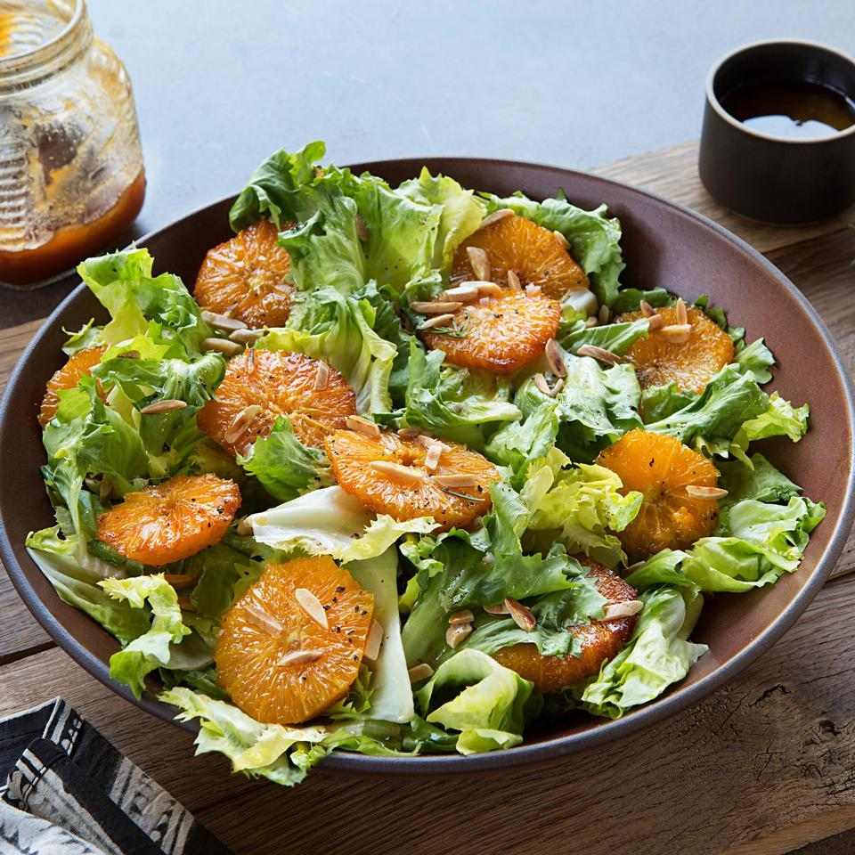 Burnt Orange & Escarole Salad