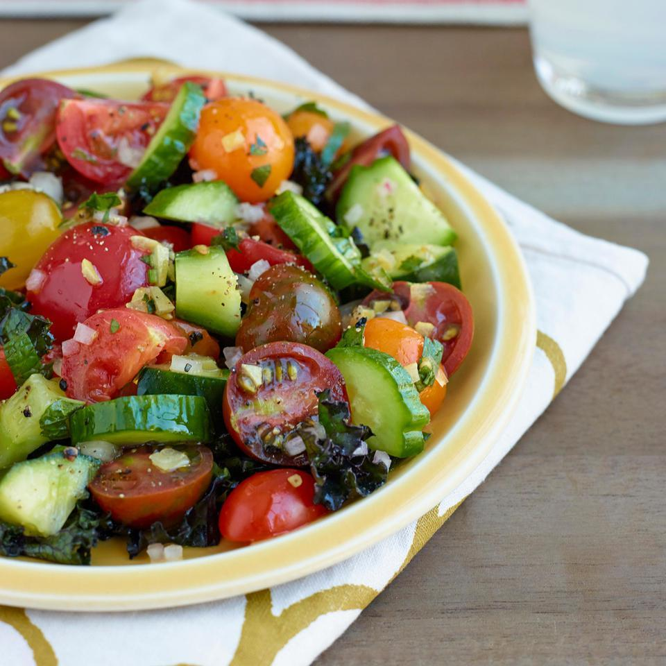 Persian Cucumber & Tomato Salad with Preserved Lemon