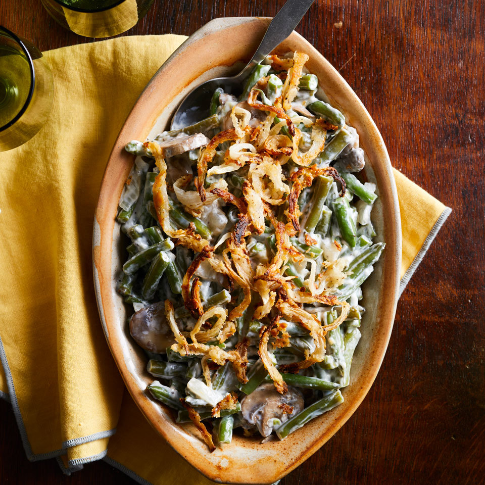 Slow-Cooker Green Bean Casserole with Crispy Onions