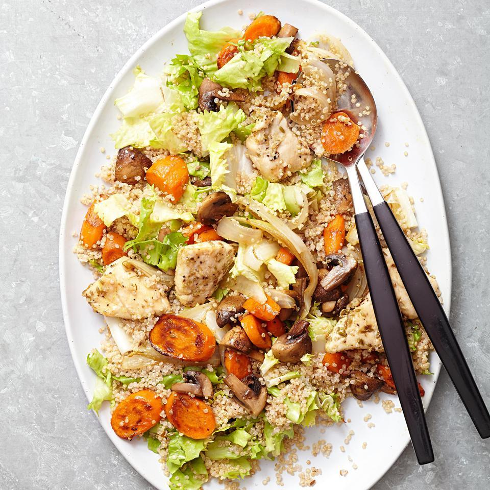 Roasted Chicken & Vegetable Quinoa Salad