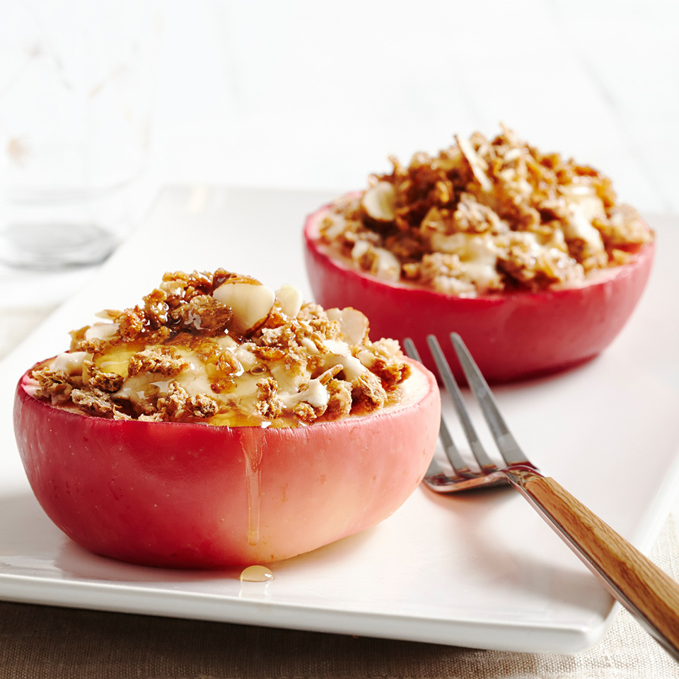 Granola Cream-Stuffed Apple