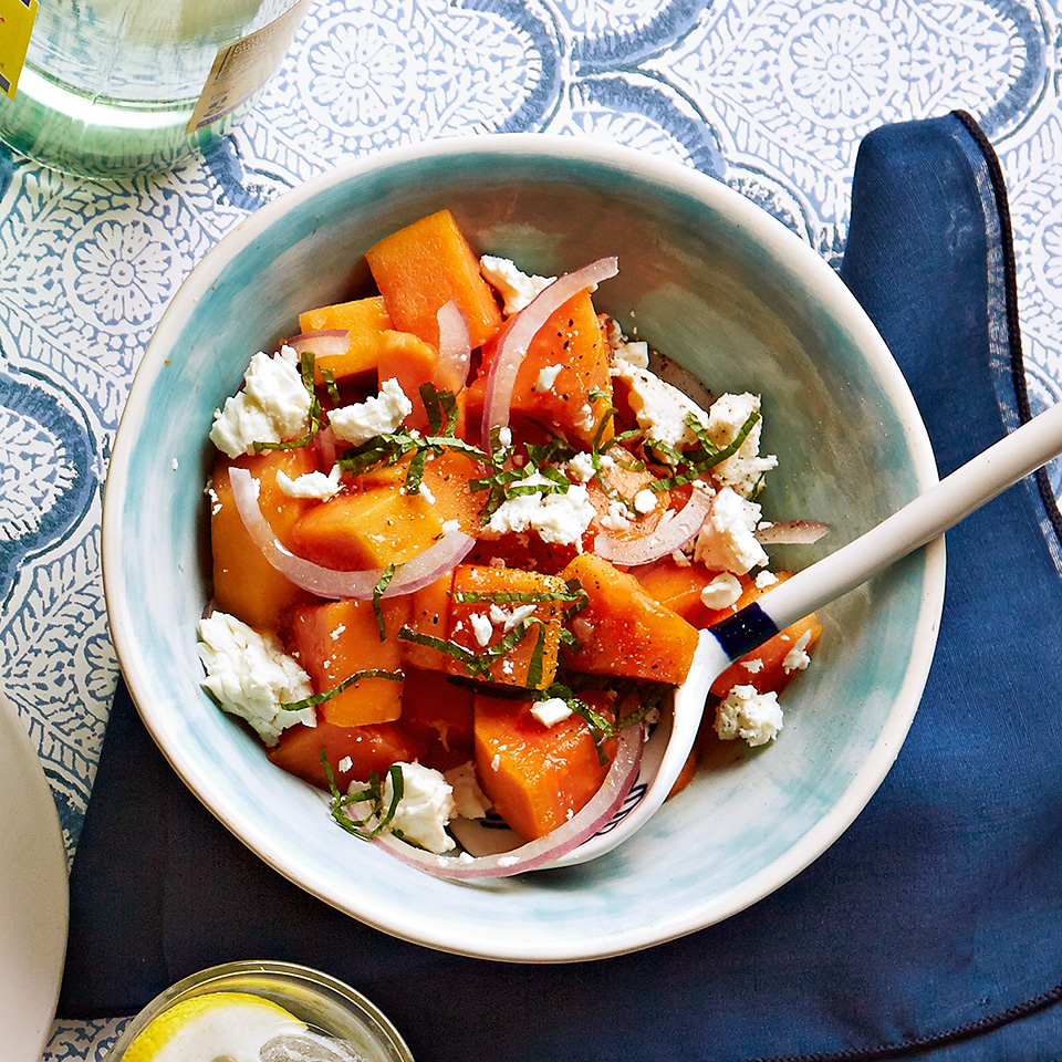 Papaya and Feta Salad