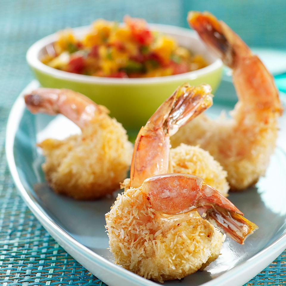 Baked Coconut Shrimp with Tangelo Salsa