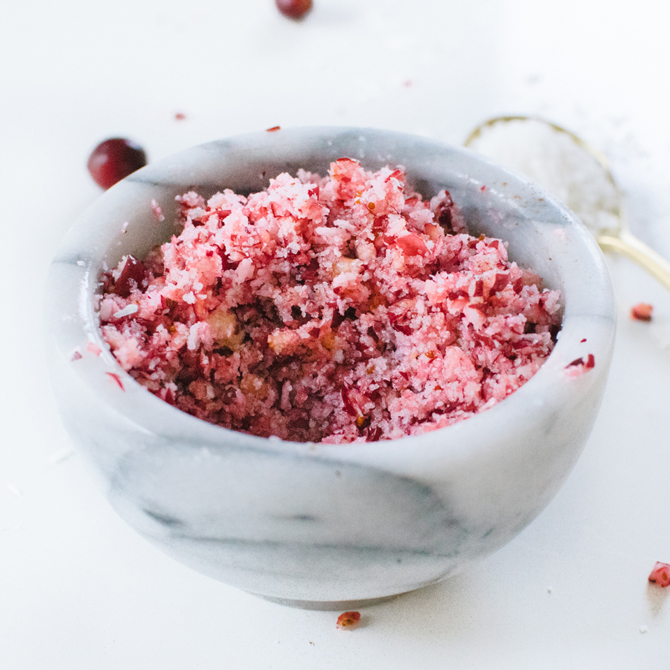 Cranberry-Coconut Salt Body Scrub