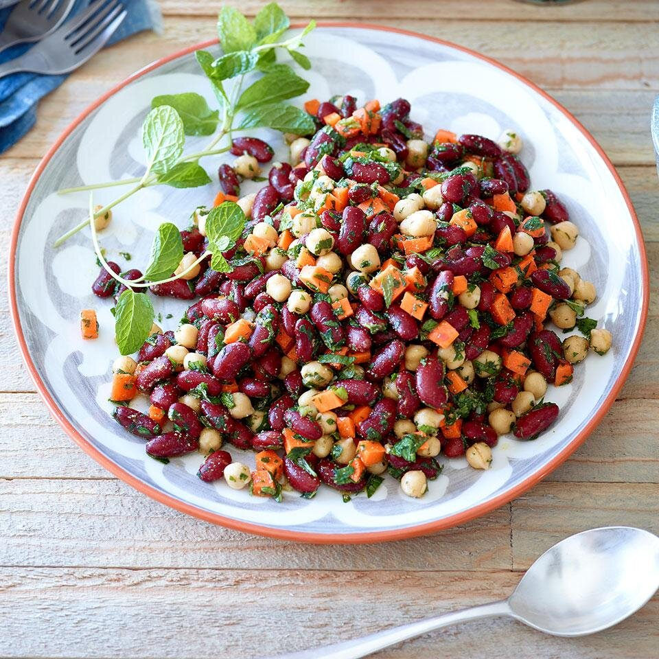 Moroccan Kidney Bean Chickpea Salad Recipe Eatingwell