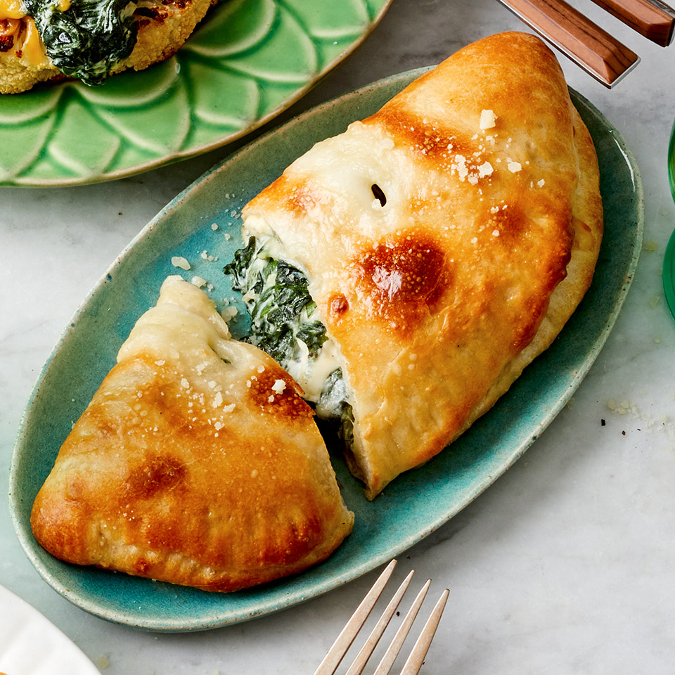 Greek Spinach Pie Calzone