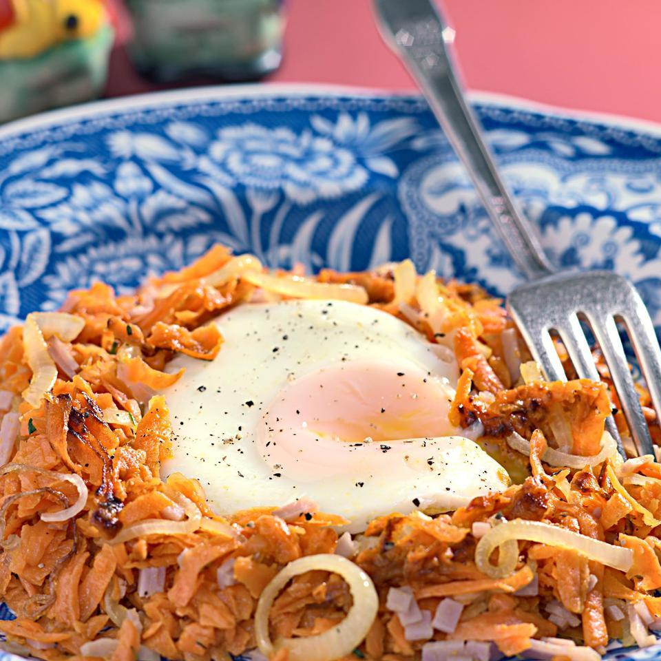 Sweet Potato Hash with Black Forest Ham