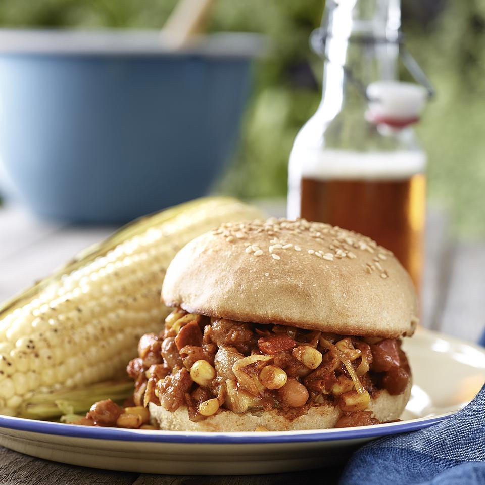 Vegetarian Pinto Bean Sloppy Joes