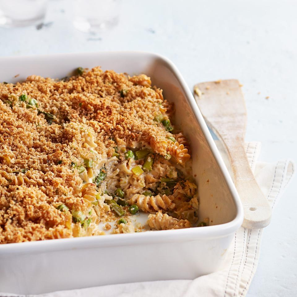 Gruyere, Asparagus & Pea Baked Pasta