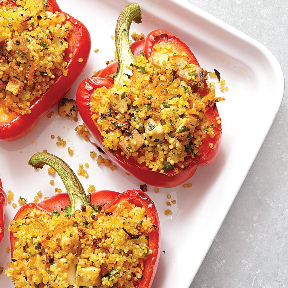 Day 18: Millet-Stuffed Peppers with Ginger & Tofu