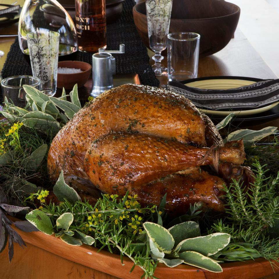 Herb-Roasted Turkey with Calvados Gravy