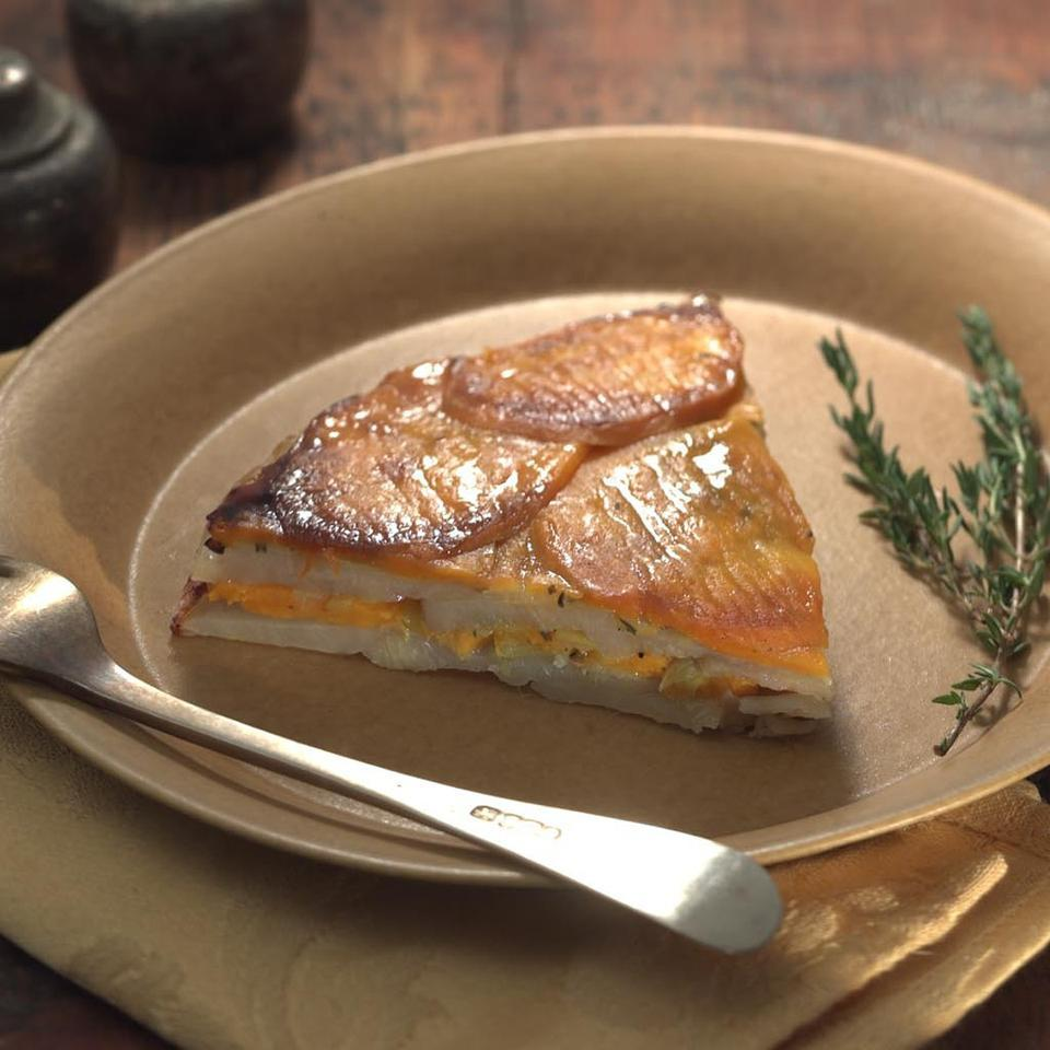 Potato & Sweet Potato Torte