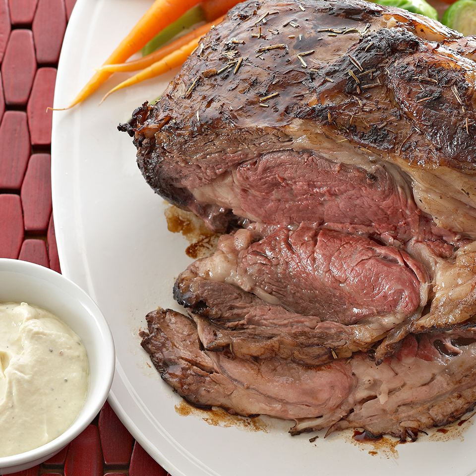 Rib Roast with Dijon-Sour Cream Sauce