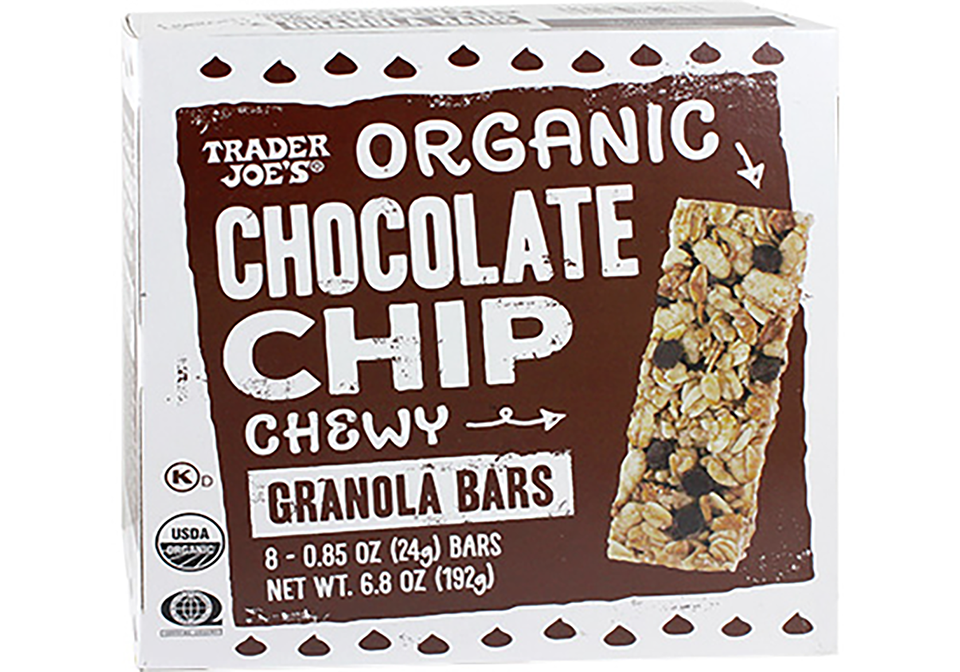 organic chocolate chip granola bar