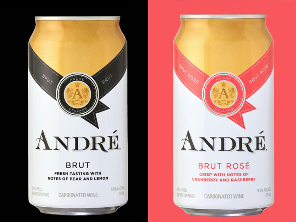 André in a can - Brut and Rosé