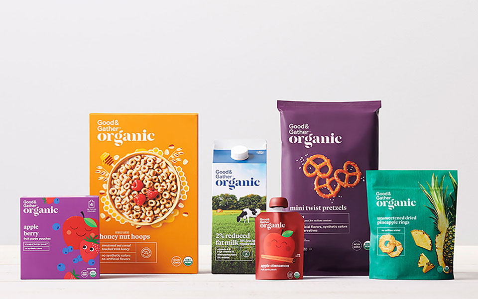 Good & Gather Organic packaged foods