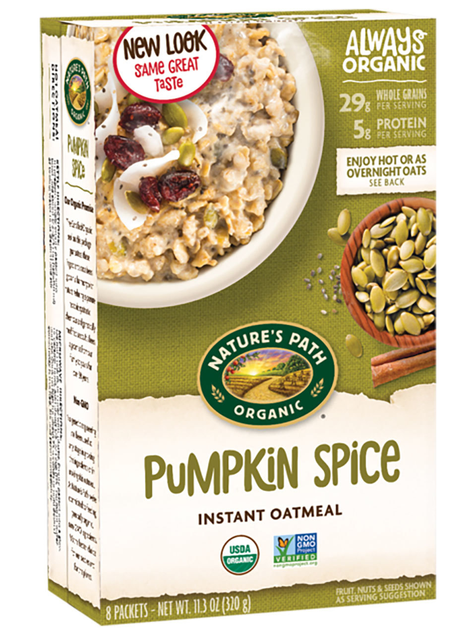 Nature's Path Pumpkin Spice Chia Instant Oatmeal in package