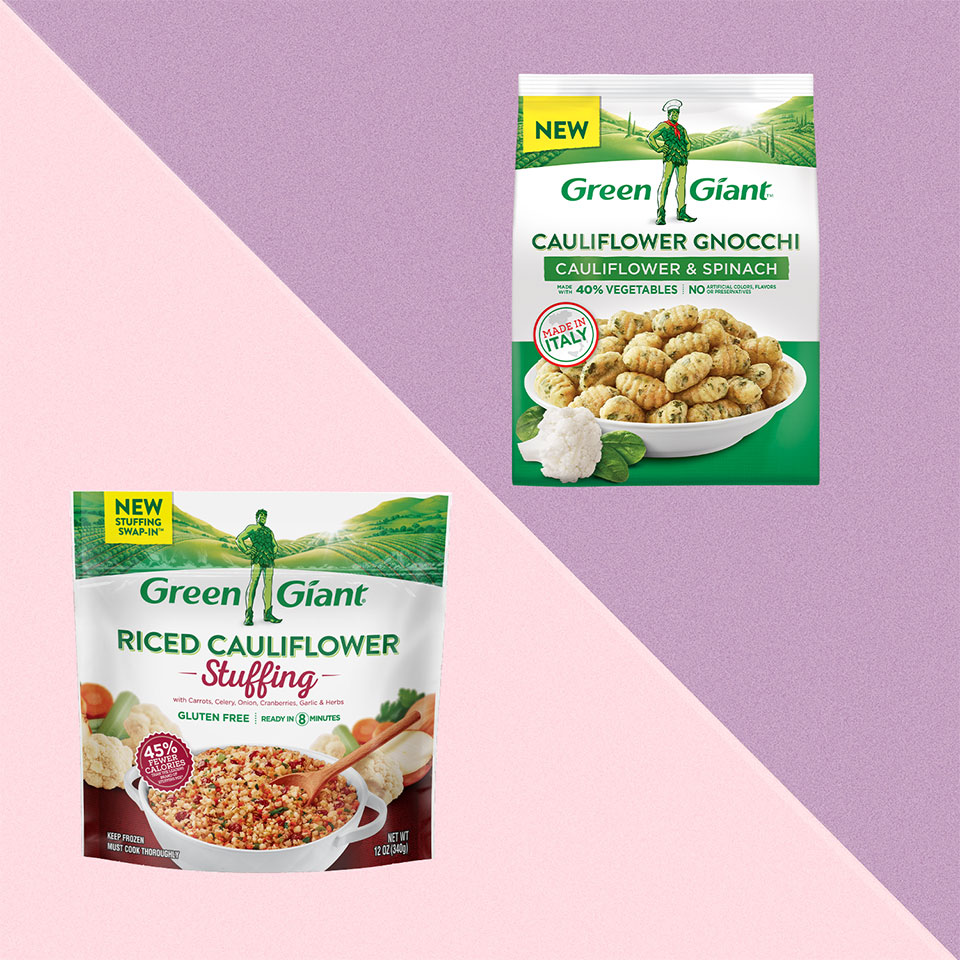 2 bags of Green Giant Cauliflower products