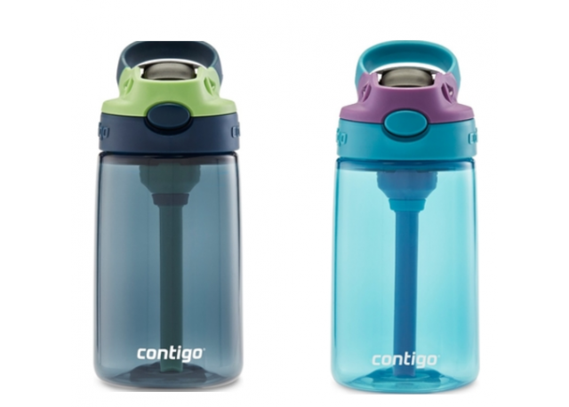 Contigo Water Bottles with straw, mouthpiece and handle