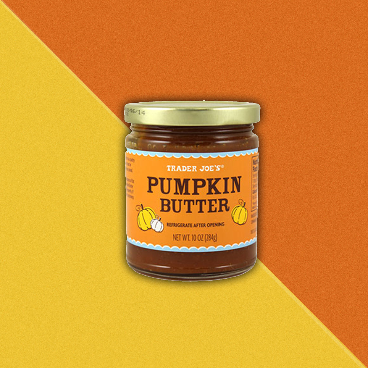 Pumpkin butter jar
