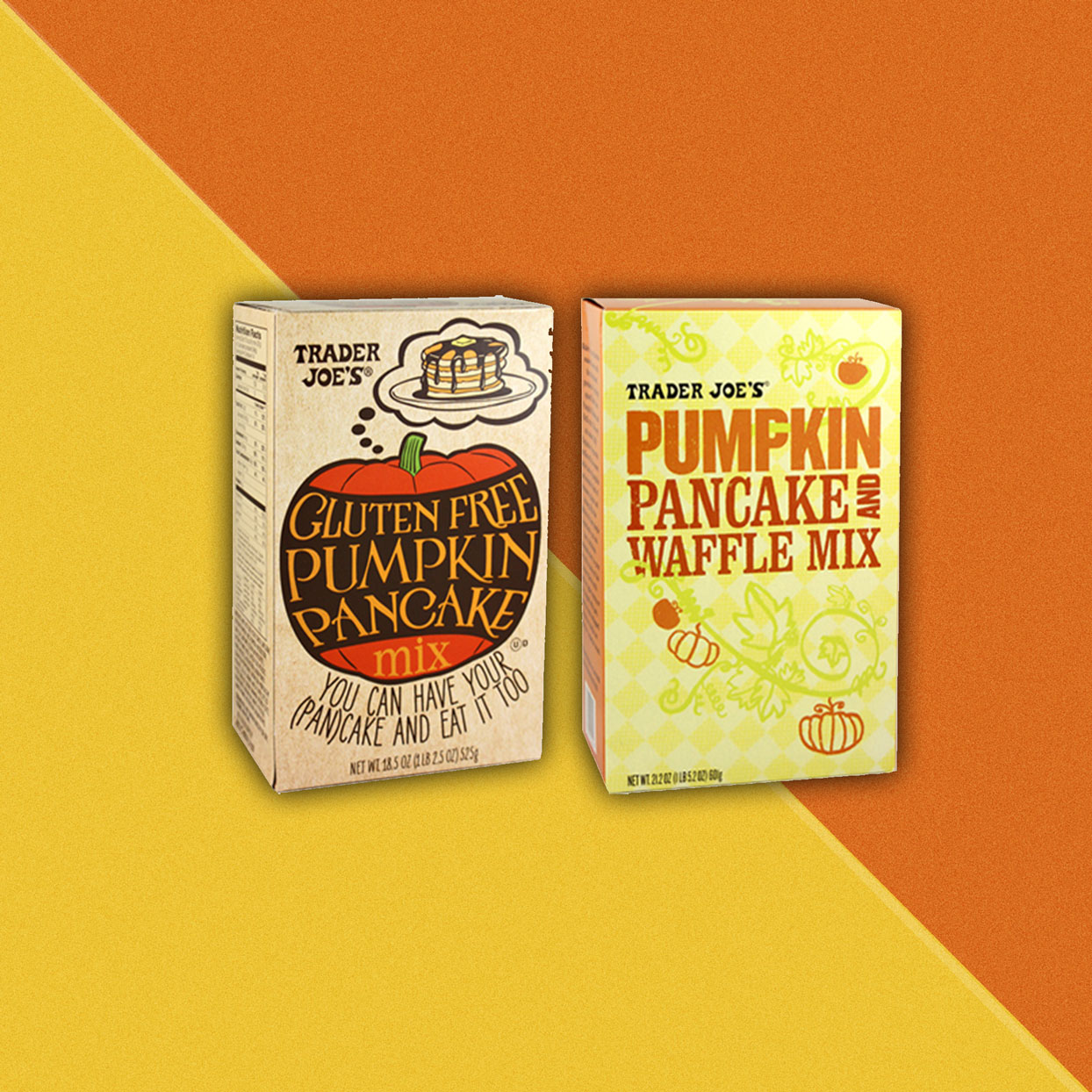 Pumpkin flavored pancake mix