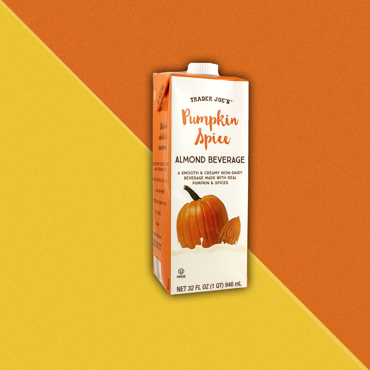 Pumpkin flavored almond beverage