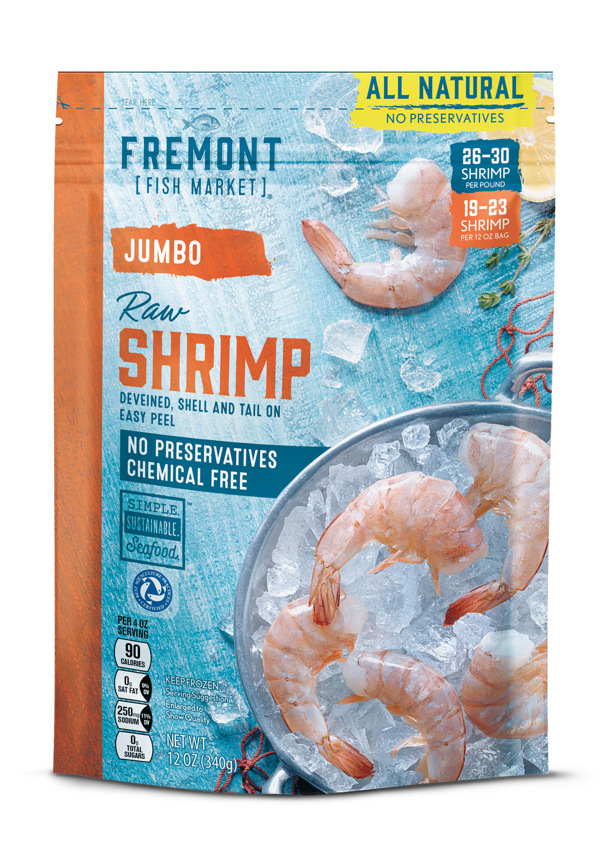 Frozen Raw Shrimp in a bag