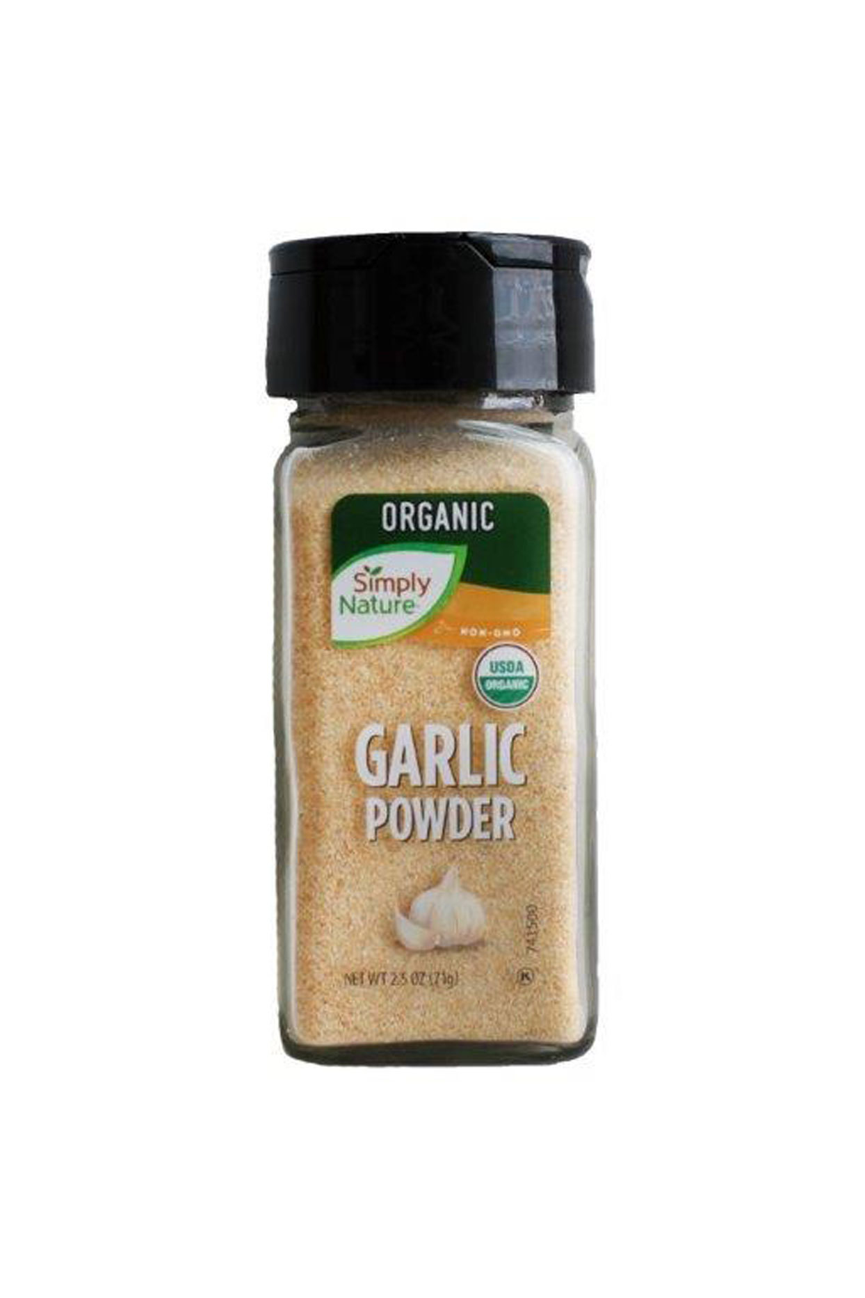 small jar of Organic garlic powder