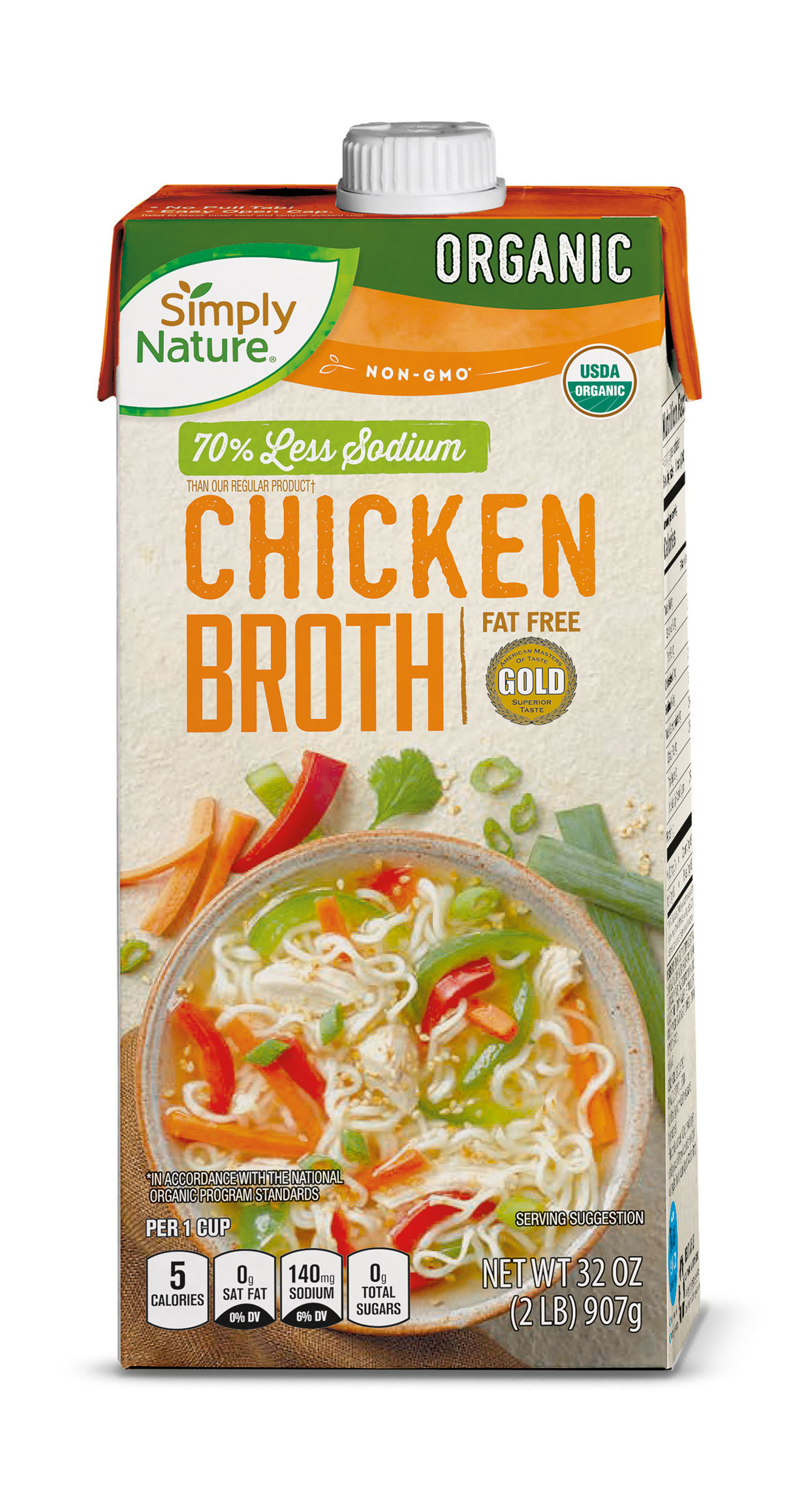 Simply Nature brand Chicken Broth in a box