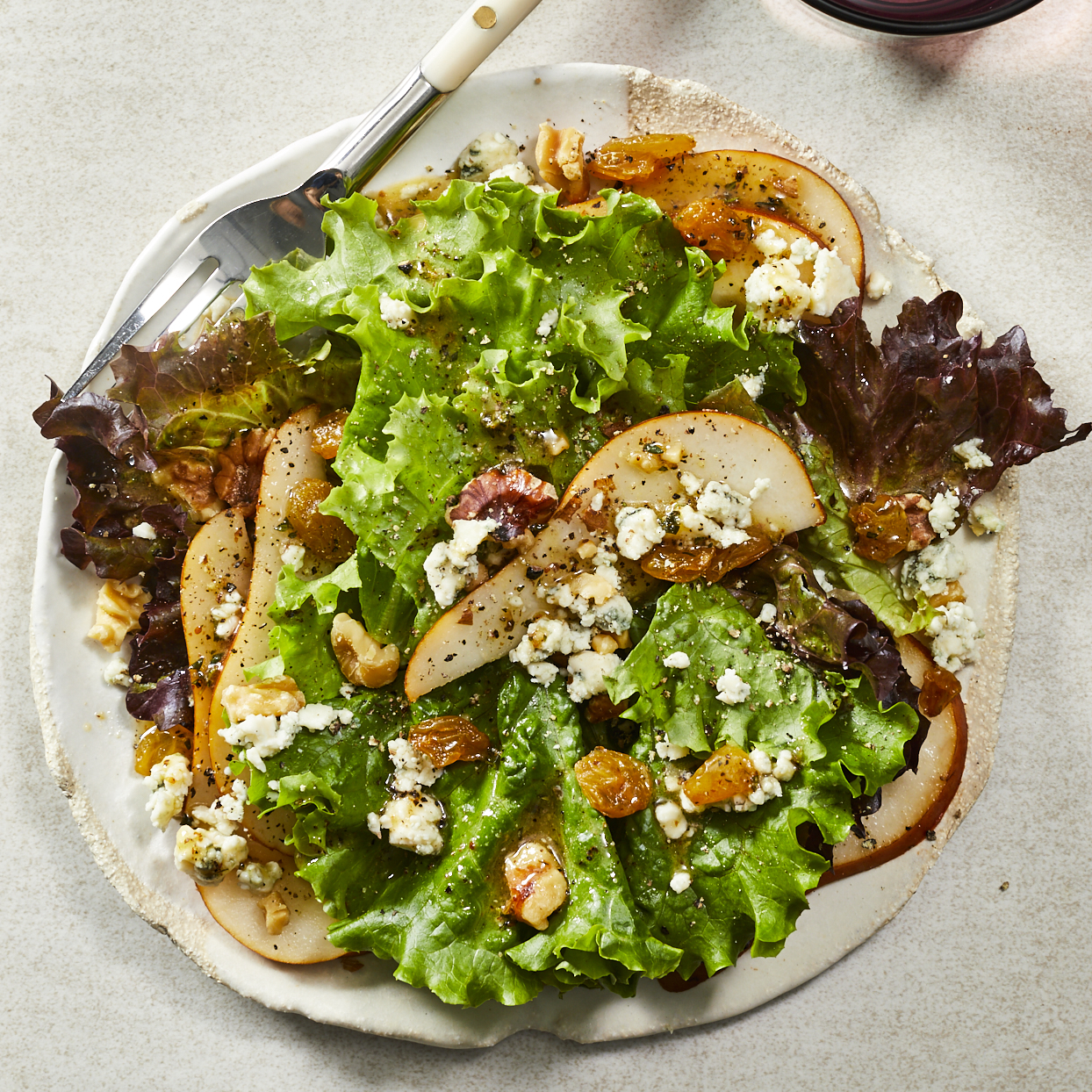 Pear, Gorgonzola & Walnut Salad