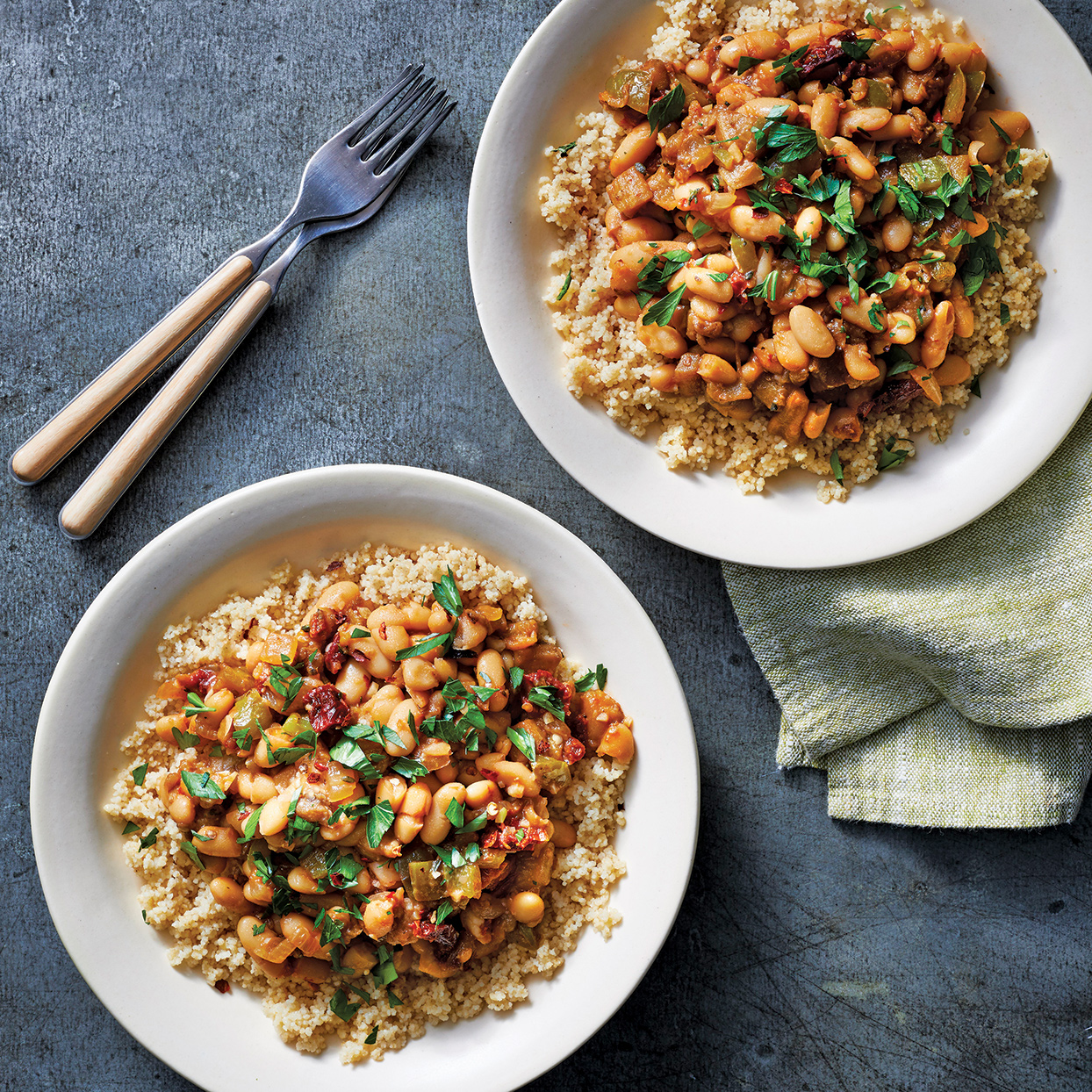 Slow-Cooker Vegetarian Ragout Over Couscous