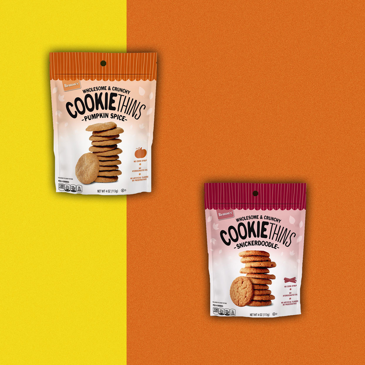 packaged Cookie Thins - Pumpkin Spice and Snickerdoodle