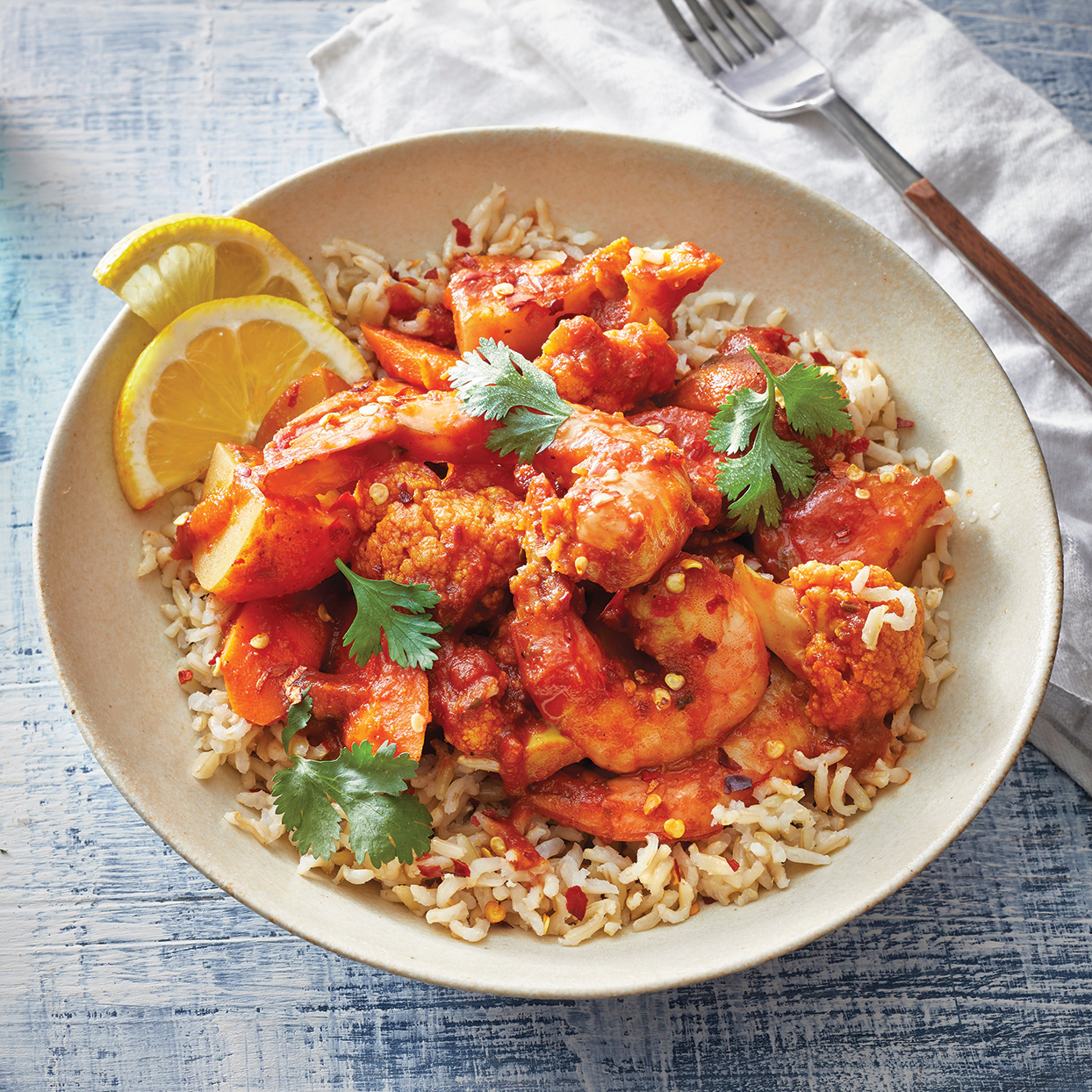 Slow-Cooker Shrimp Vindaloo