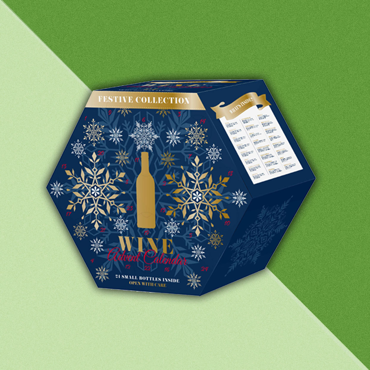 Hexagonal box - Wine Advent Calendar