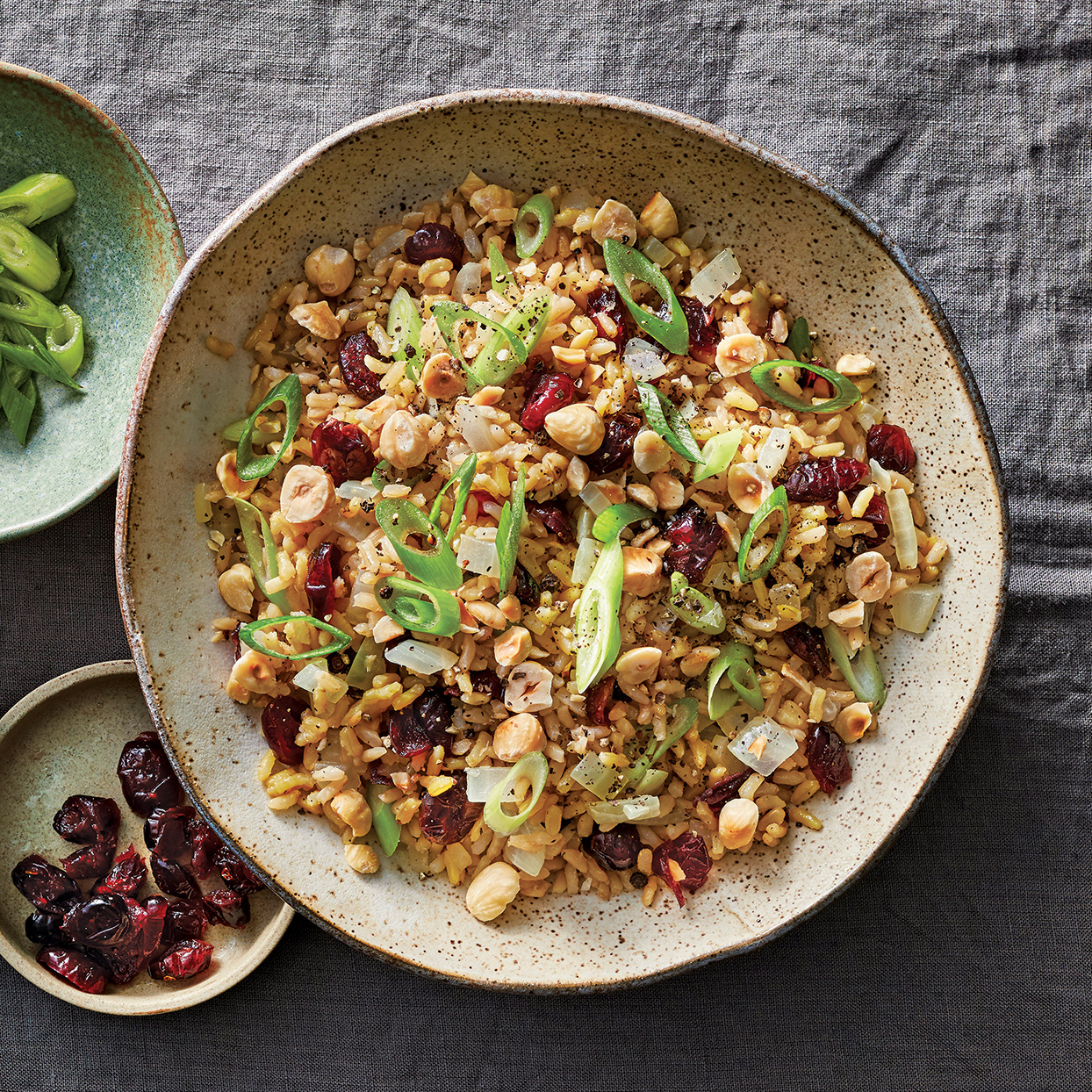 Slow-Cooker Brown Rice Pilaf with Cherries & Hazelnuts