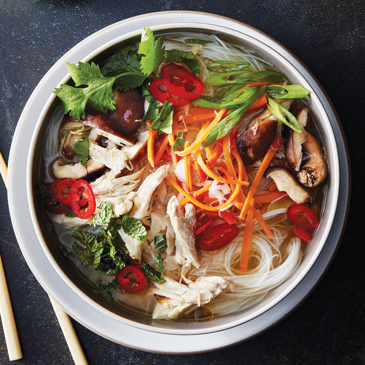 Slow-Cooker Umami Chicken & Vegetable Ramen Bowl