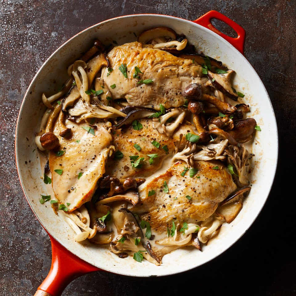Creamy Chicken & Mushrooms Recipe