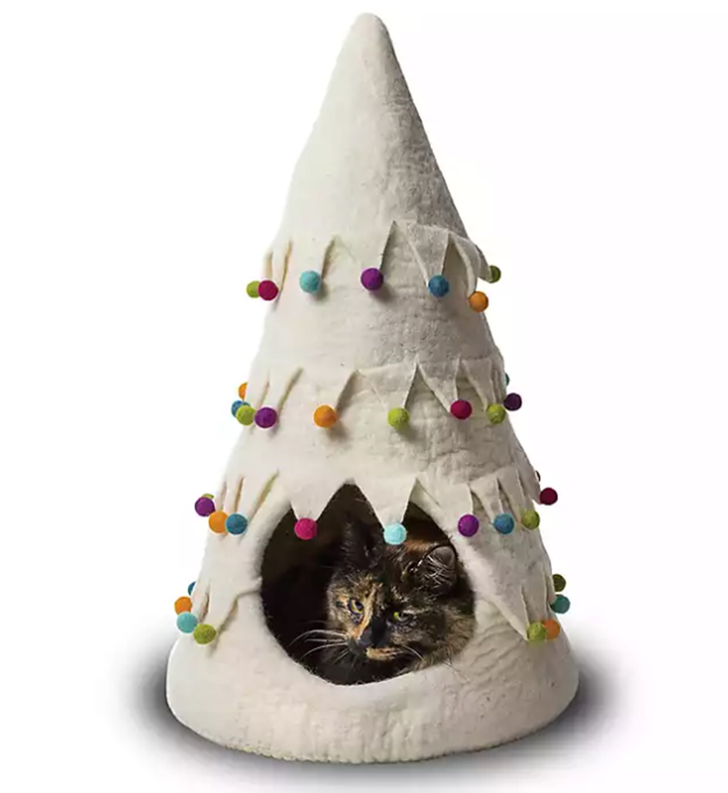 Holiday Tree Wool Pet Cave