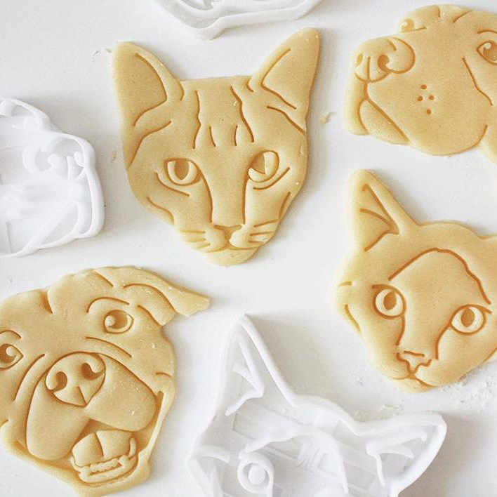 cookies made with custom pet cookie cutters