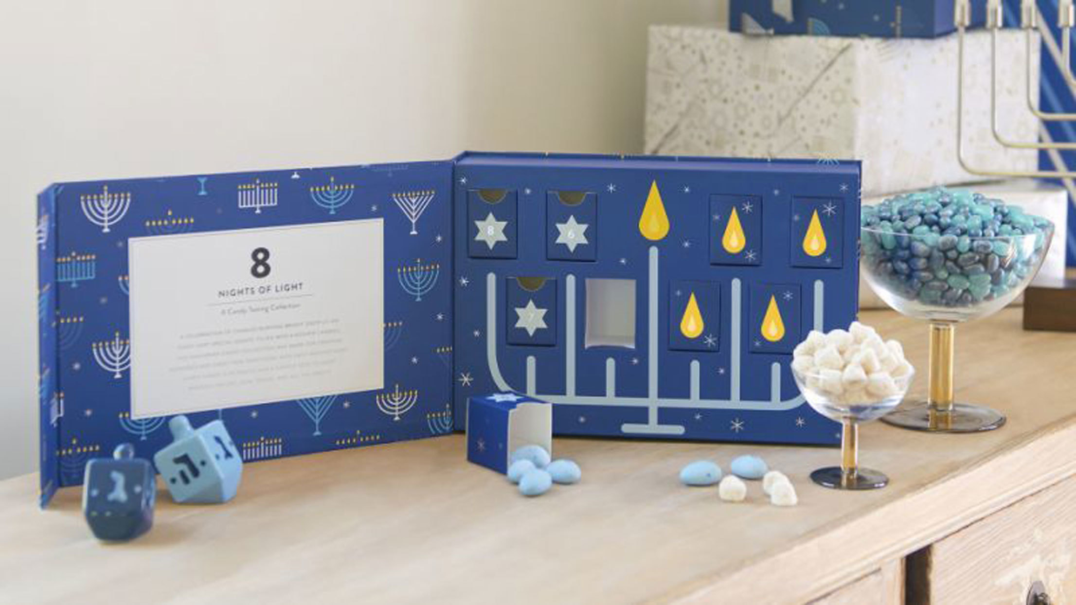 Hanukkah Menorah Candy Box