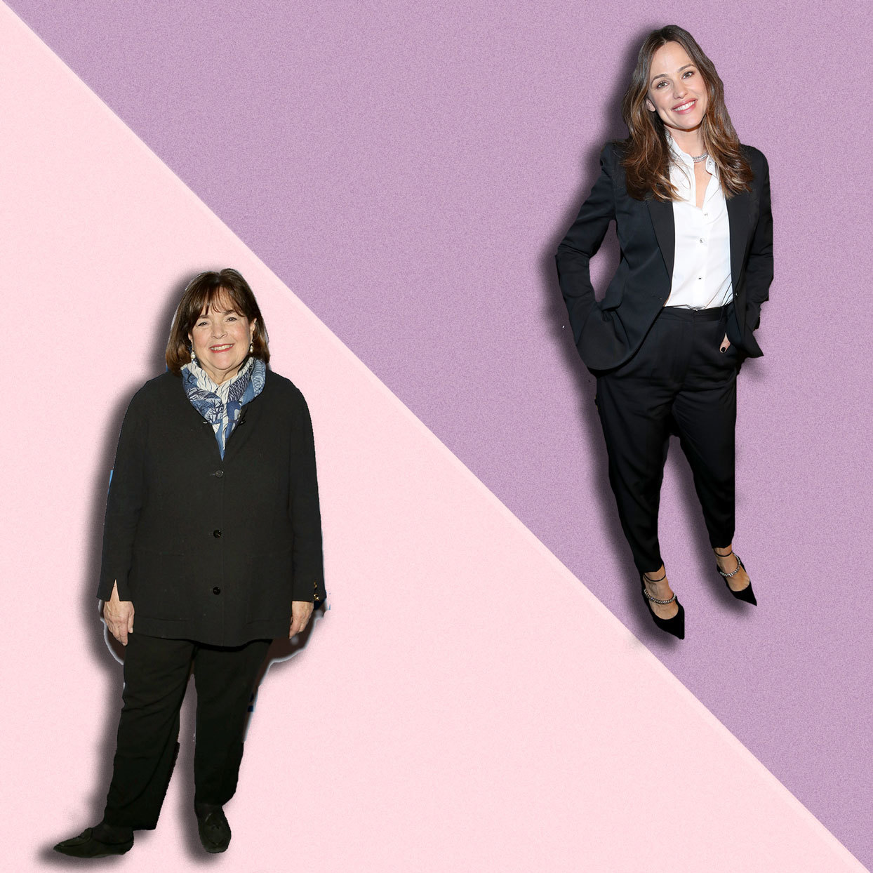 Jennifer Garner and Ina Garten