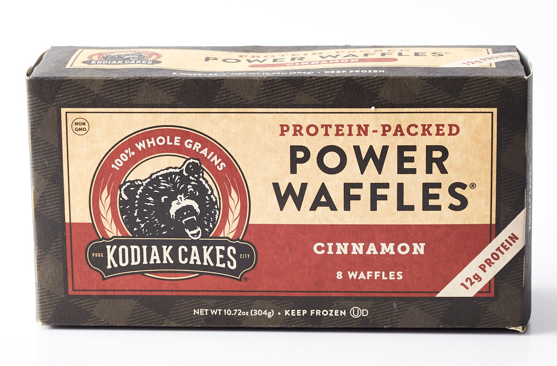 Kodiak Cakes brand Protein-Packed Power Waffles Cinnamon