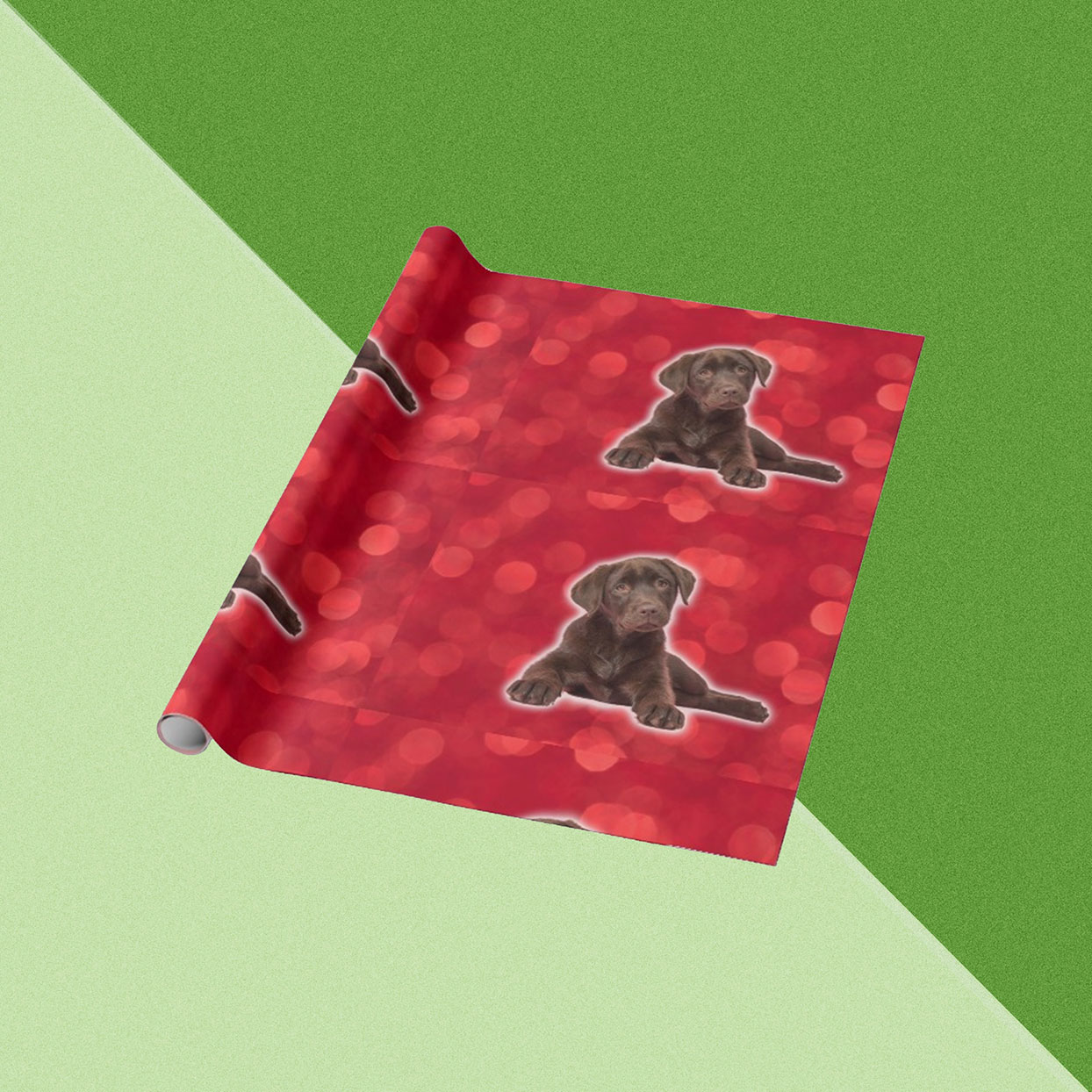 wrapping paper with dogs printed on it