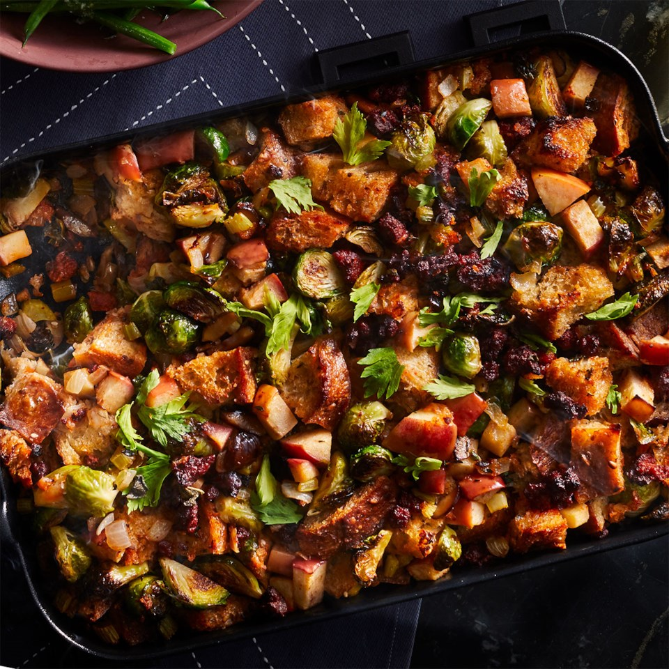 Chorizo, Chestnut, Brussels Sprout & Apple Stuffing