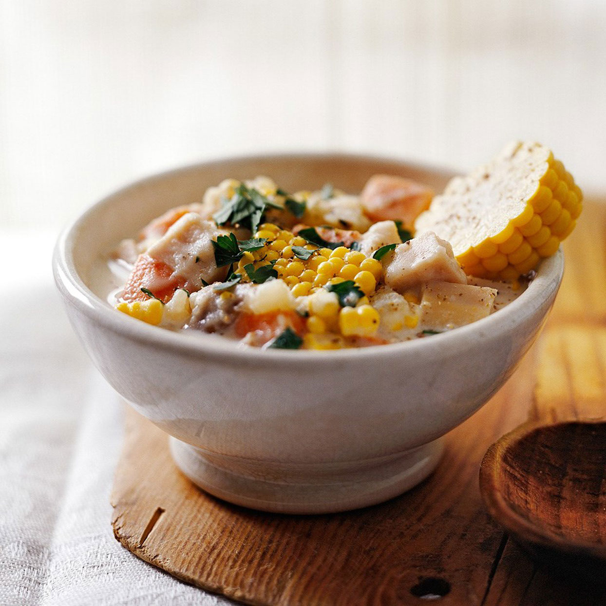 Turkey and Sweet Potato Chowder